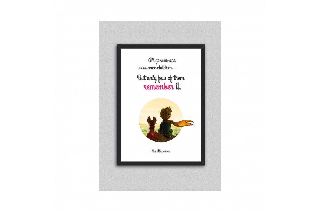 Obraz North Carolina Scandinavian Home Decors Little Prince Quote V5, 33 × 43 cm