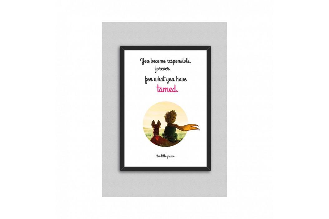 Obraz North Carolina Scandinavian Home Decors Little Prince Quote V8, 33×43 cm