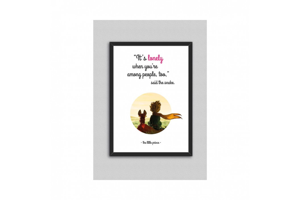Obraz North Carolina Scandinavian Home Decors Little Prince Quote V9, 33×43 cm
