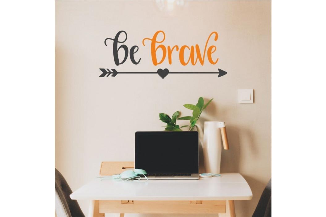 Čierno-oranžová nástenná samolepka North Carolina Scandinavian Home Decors Motto V26