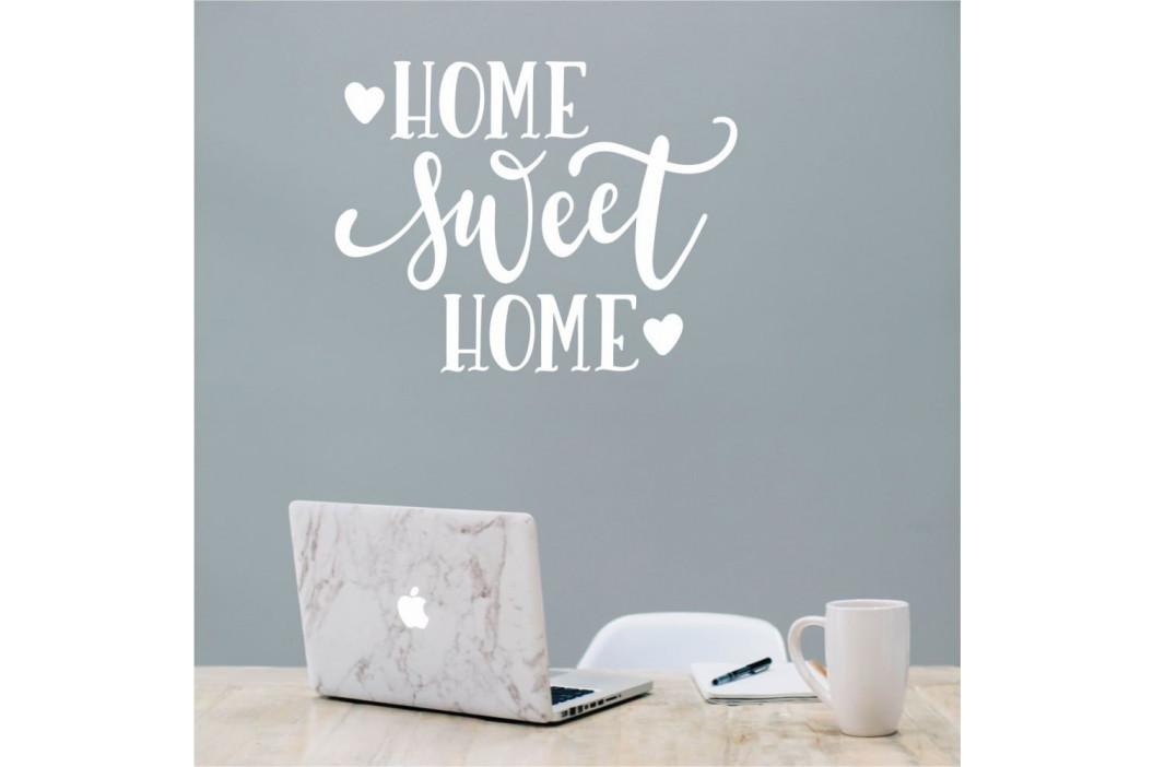 Biela nástenná samolepka North Carolina Scandinavian Home Decors Motto V36