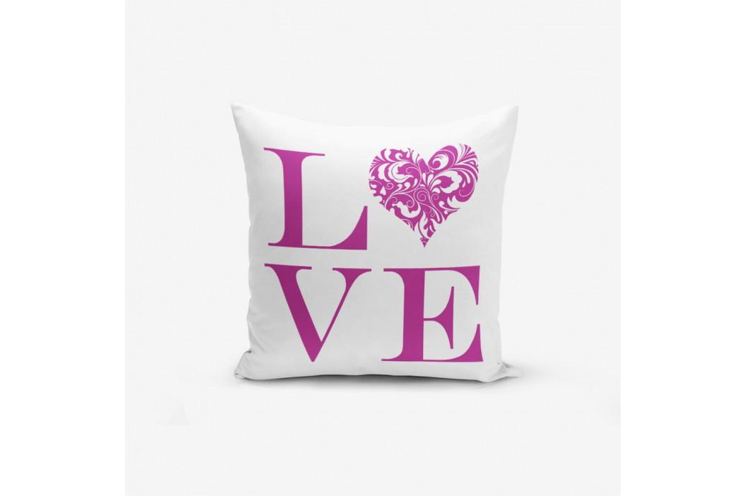 Obliečky na vaknúš s prímesou bavlny Minimalist Cushion Covers Love Purple, 45×45 cm