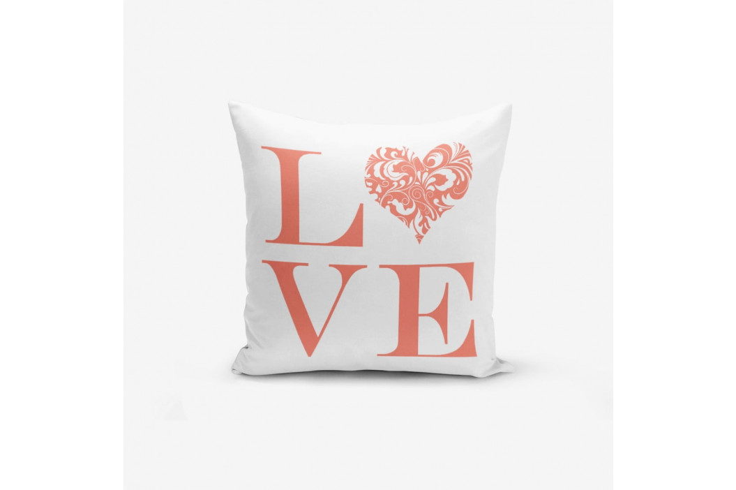 Obliečky na vaknúš s prímesou bavlny Minimalist Cushion Covers Love Flower, 45×45 cm