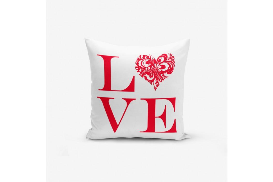 Obliečky na vaknúš s prímesou bavlny Minimalist Cushion Covers Love Red, 45×45 cm