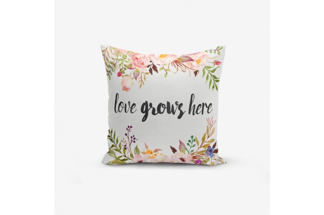 Obliečky na vaknúš s prímesou bavlny Minimalist Cushion Covers Love Grows Here, 45×45 cm