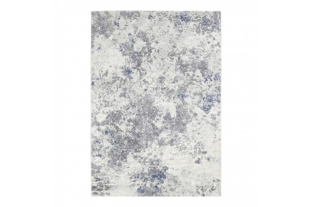 Svetlomodro-krémový koberec Elle Decor Arty Fontaine, 120 × 170 cm