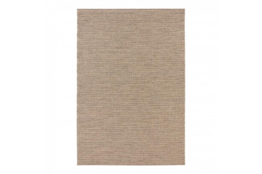 Hnedý koberec vhodný aj do e×teriéru Elle Decor Brave Caen, 160 × 230 cm