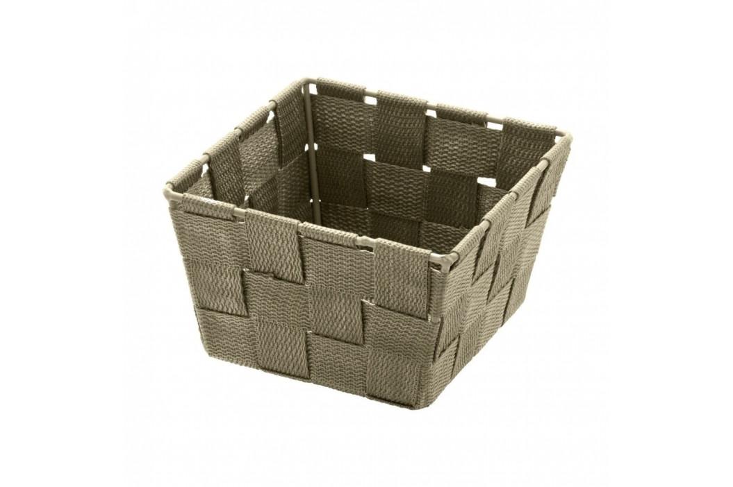 Hnedobéžový úložný košík Wenko Adria, 14 x 14 cm
