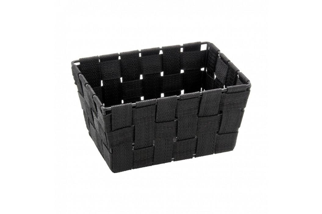 Čierny úložný košík Wenko Adria, 14 x 19 cm