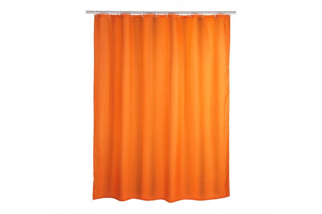 Oranžový sprchový záves Wenko Puro, 180 x 200 cm