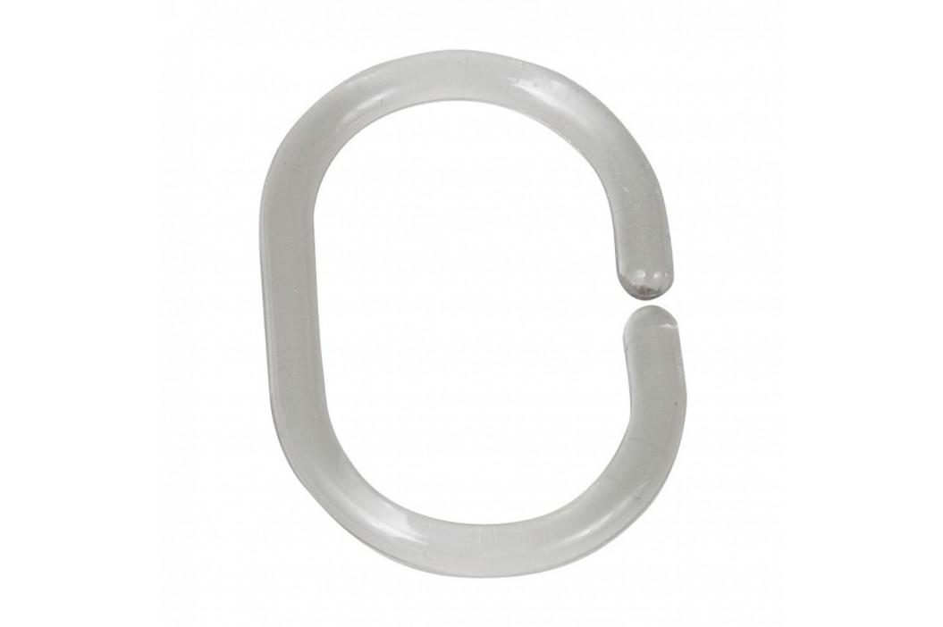 Sada 12 priehľadných krúžkov na tyč k sprchovému závesu Wenko Shower Hooks