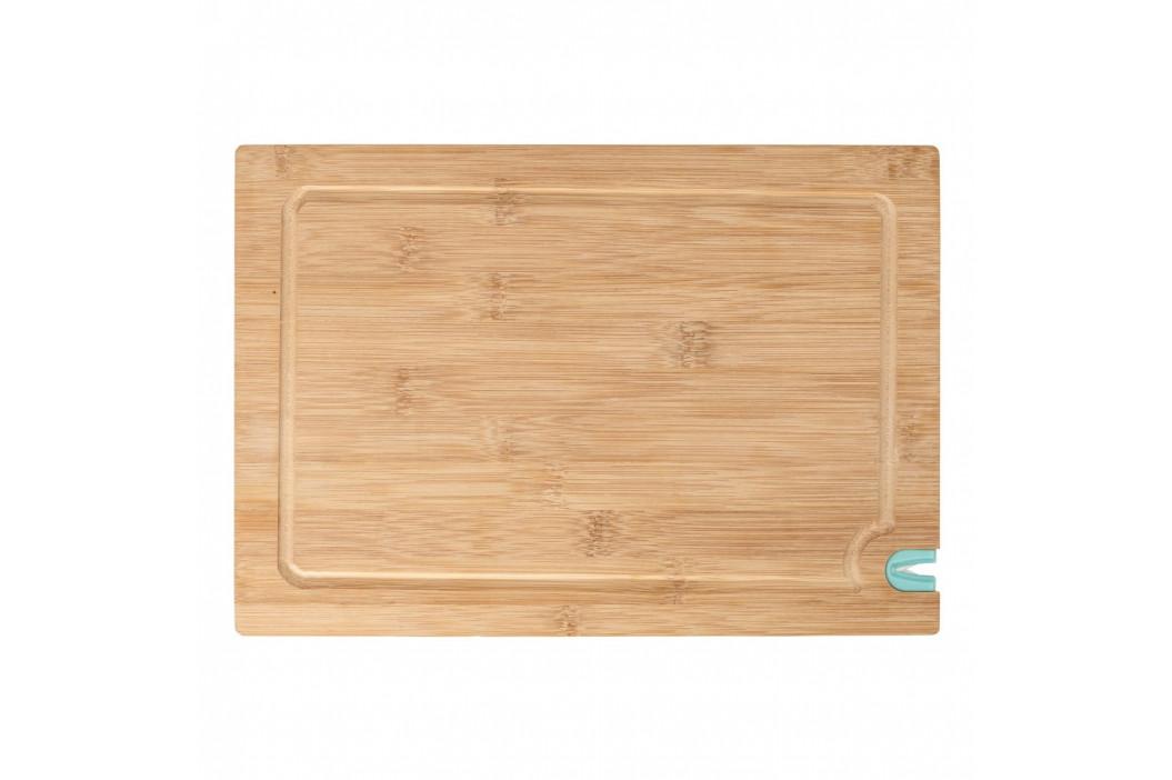 Doska na krájanie z bambusového dreva s brúskou na nôž, 33 x 23 cm