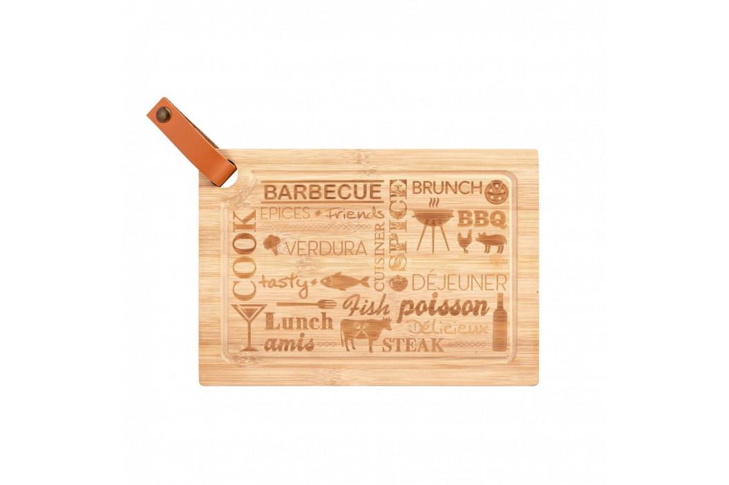 Doska na krájanie z bambusového dreva Wenko Steak Board, 33 x 23 cm