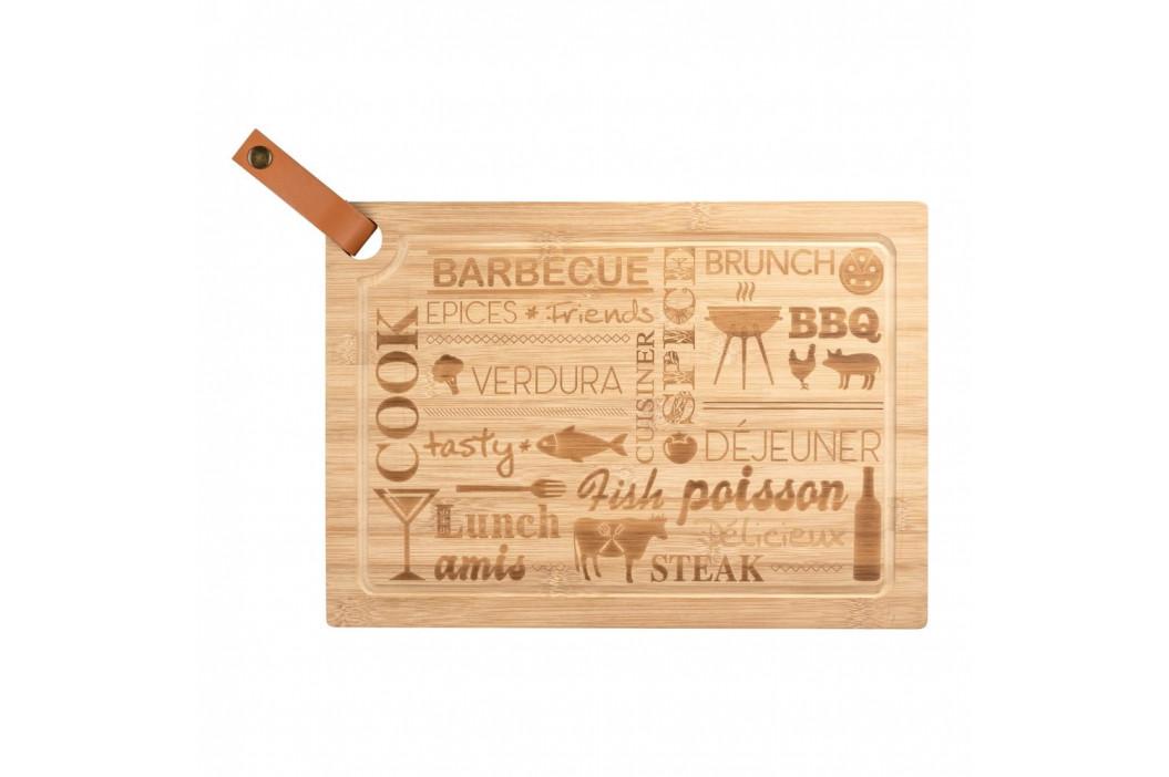 Doska na krájanie z bambusového dreva Wenko Steak Board, 39,5 x 28 cm