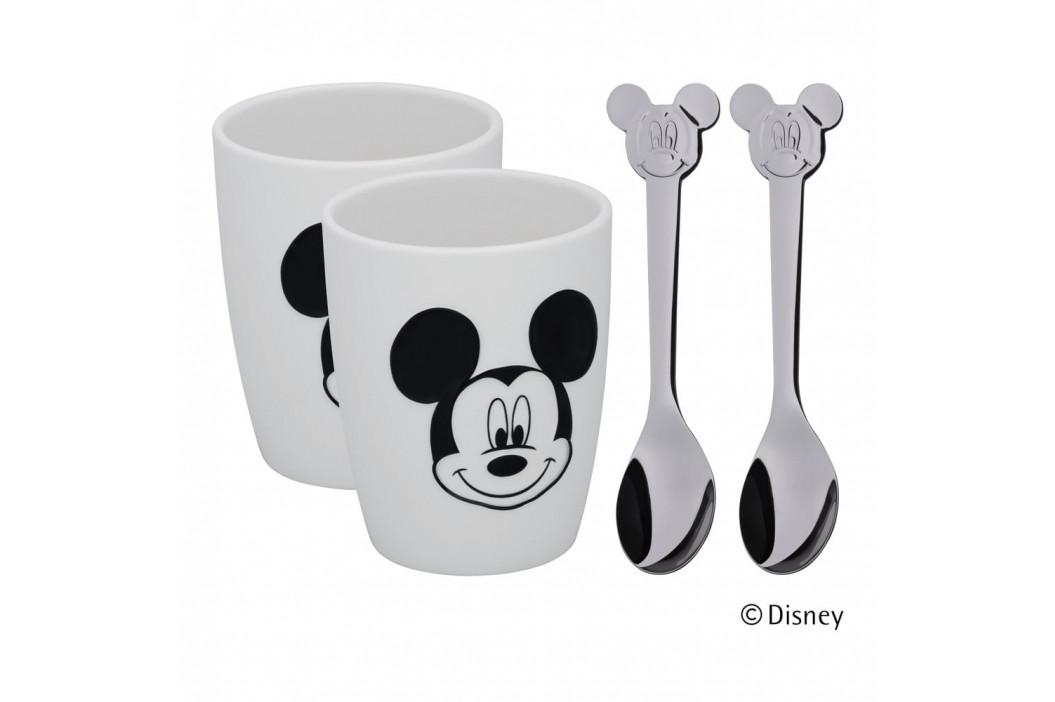 Sada 2 pohárikov a 2 lyžičiek WMF Mickey Mouse