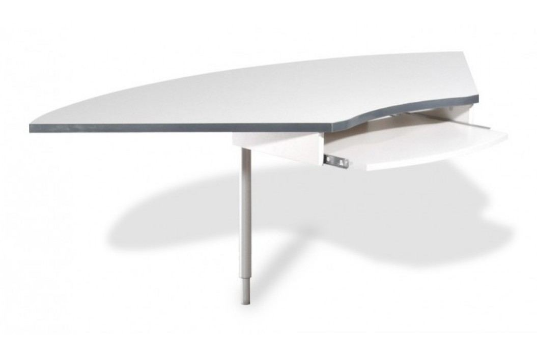 GW-Profi-Spojovací roh stola,výškovo nastavitelný (svetle sivá)