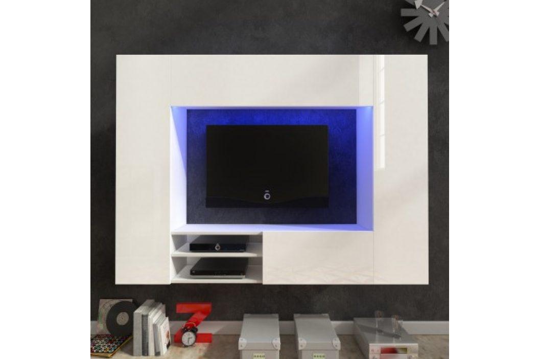 Net - Obývacia stena (biela/biela lesk)