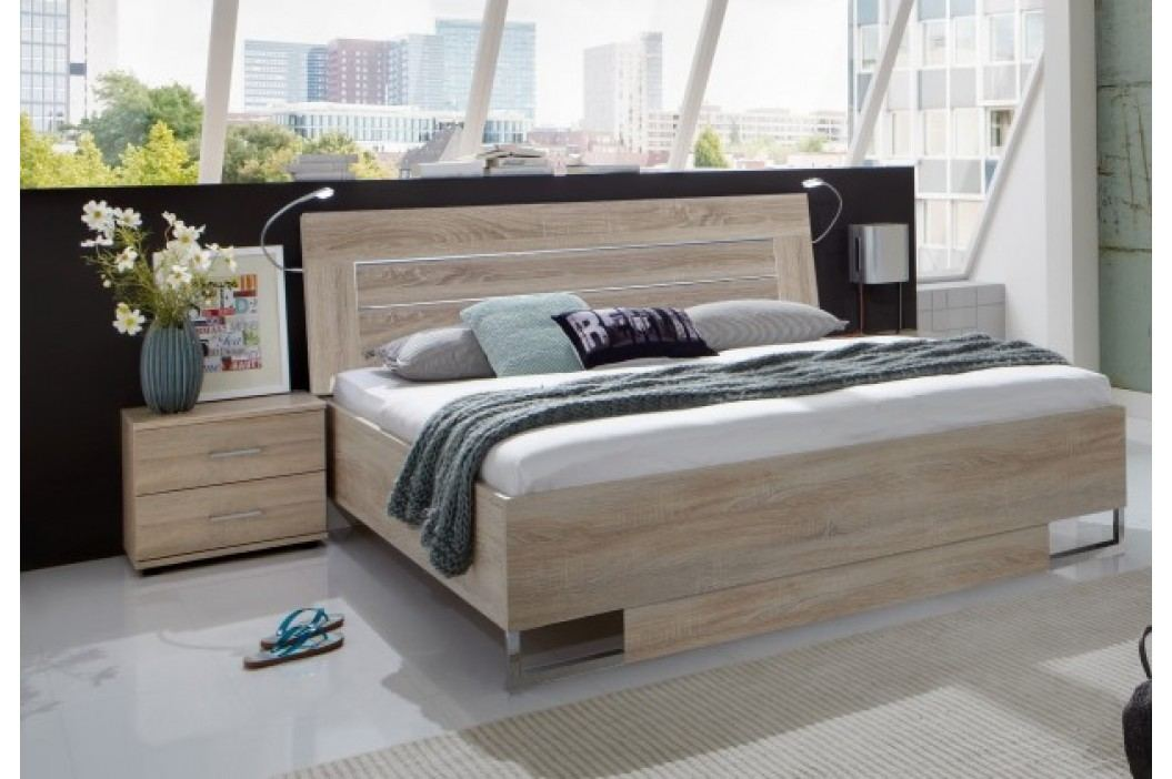 Davos - Komplet 4, posteľ 160 cm (dub)