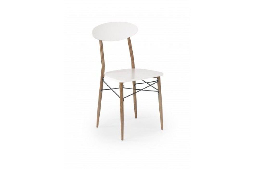 K223 - Jedálenská stolička (biela, dub medový)