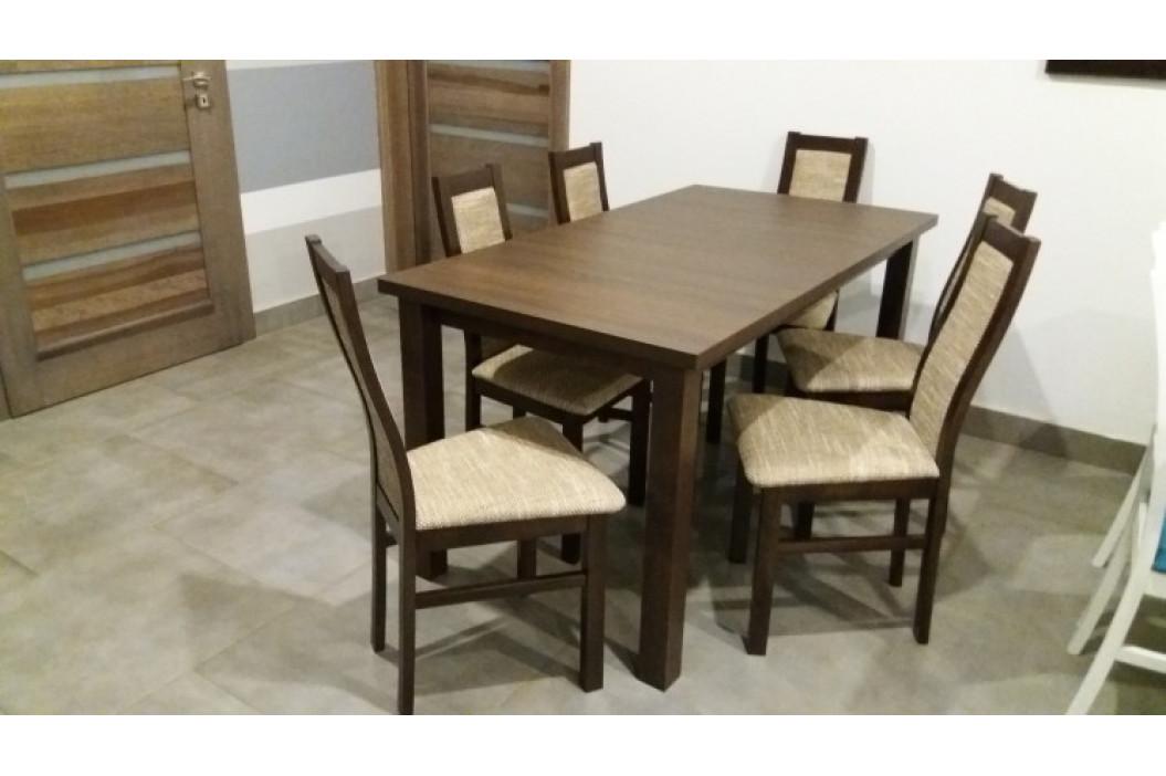 Aga - Set 6x stolička, 1x stôl + rozklad (wenge/berlin 03)