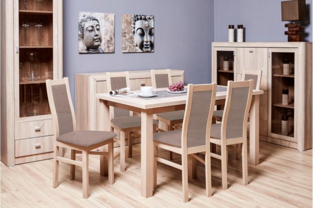 Aga - Set 6x stolička, 1x stôl + rozklad (sonoma/nubuk 26W)