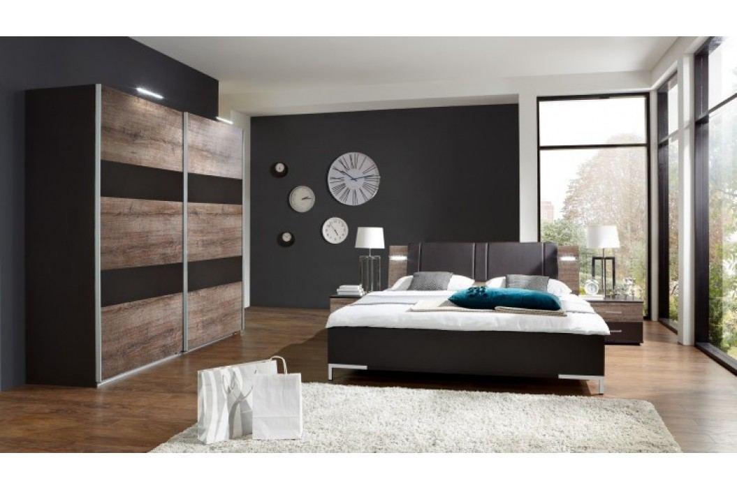 Madeira - Set posteľ 160x200 + skriňa 225 + noč.stolky(dub/láva)