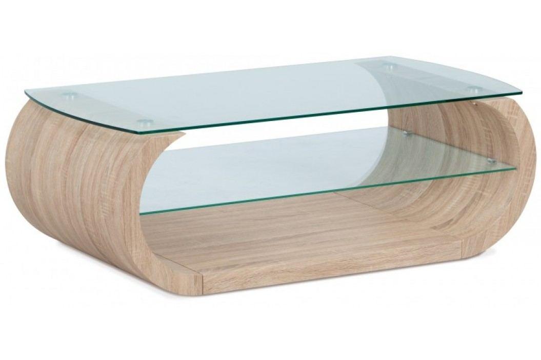 Son - Konferenčný stolík, zaoblené hrany (sonoma, sklo)