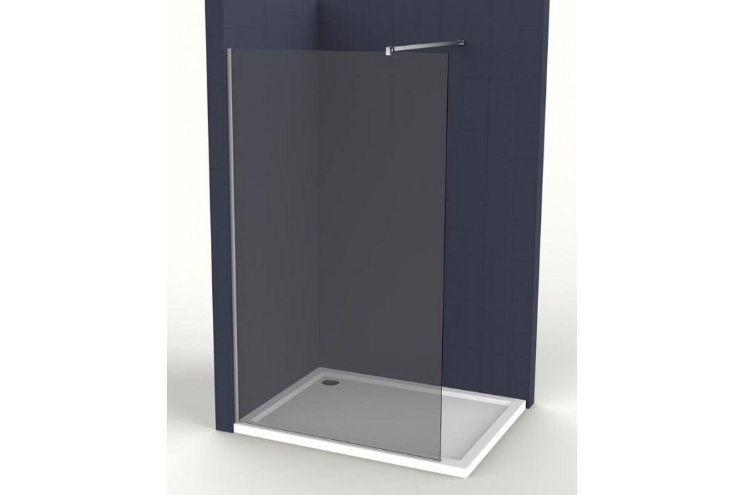 Pevná stena Anima Walk-in 100 cm, dymové sklo, chróm profil WI100KS