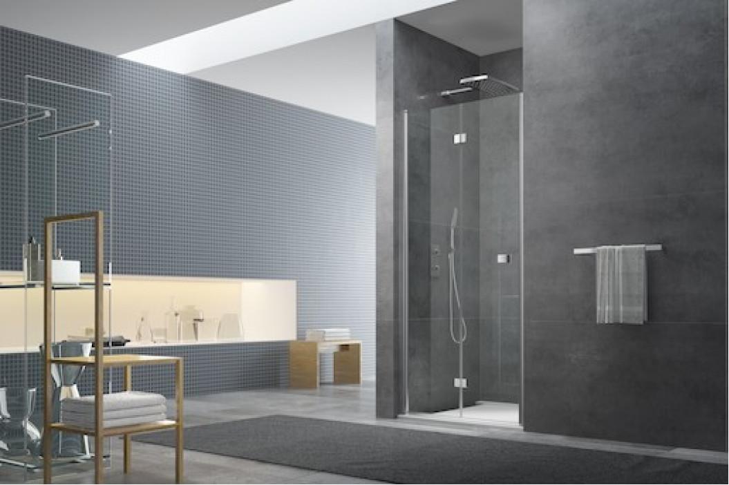 Sprchové dvere Anima SK skladací 90 cm, sklo číre, chróm profil, univerzálny SIKOSK90