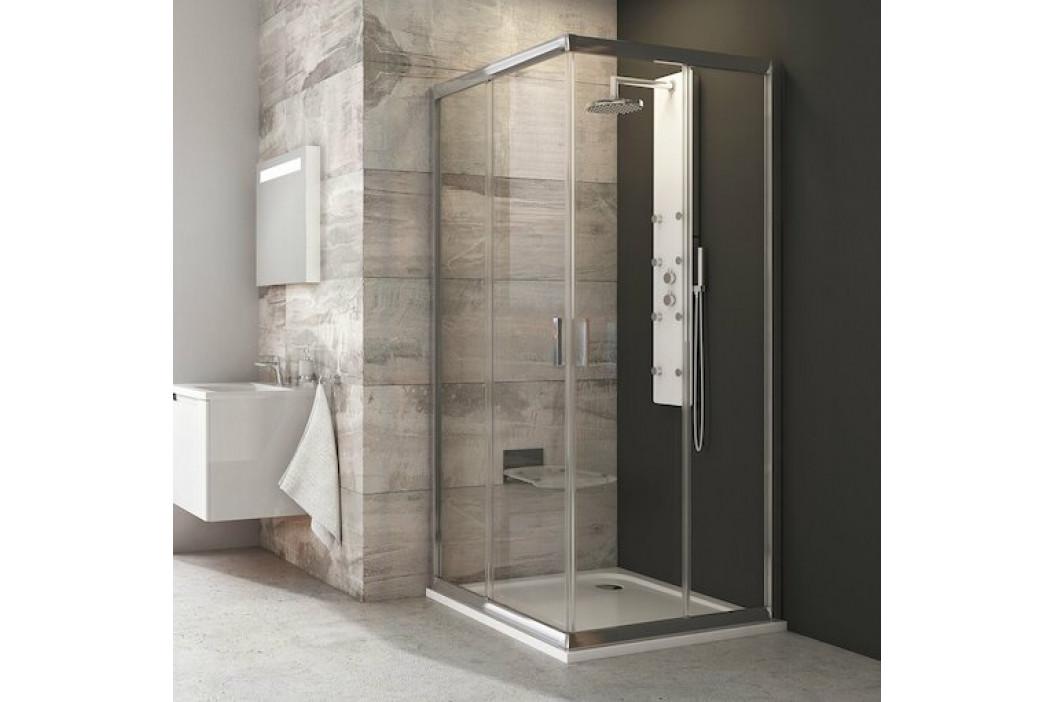 Sprchový kút Ravak Serie 200 štvorec 90 cm, sklo číre, chróm profil BLRV290TBR
