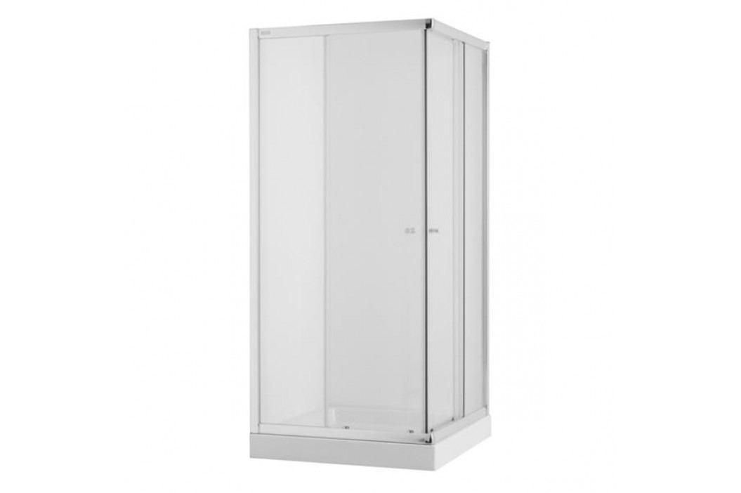 Sprchový kút Jika štvorec 80 cm, sklo číre, chróm profil 5142.1.002.668.1