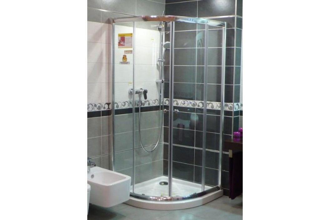 Sprchový kút Anima T-Pro štvrťkruh 90 cm, R 550, sklo číre, chróm profil TPSNEW90CRT