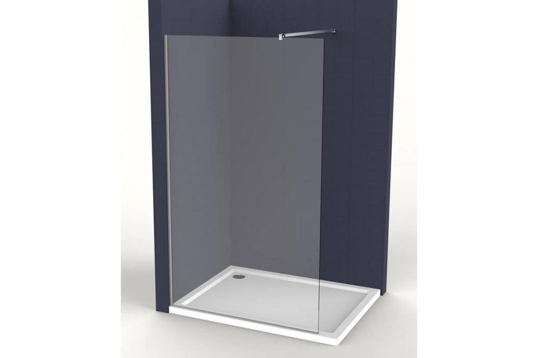Pevná stena Anima Walk-in 100 cm, sklo číre, chróm profil WI100