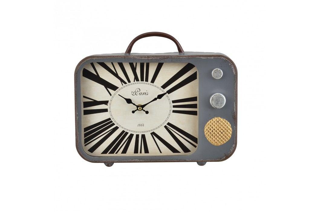 Nástenné hodiny starý televízor - analógové - 33 x 5 x 27 cm - farebné – sklo