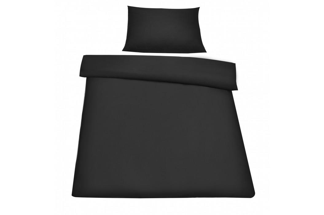 Posteľná bielizeň (na prikrývku + vankúš) - čierna - 135x200