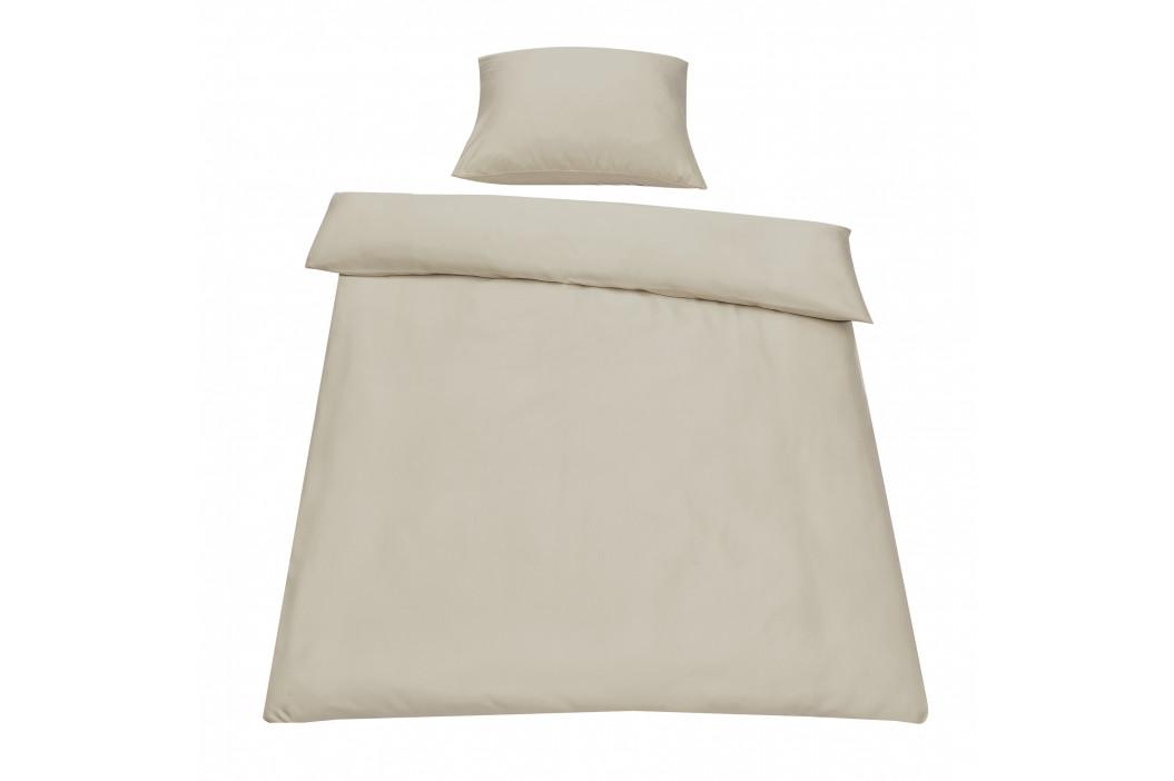 Posteľná bielizeň (na prikrývku + vankúš) - piesková - 135x200