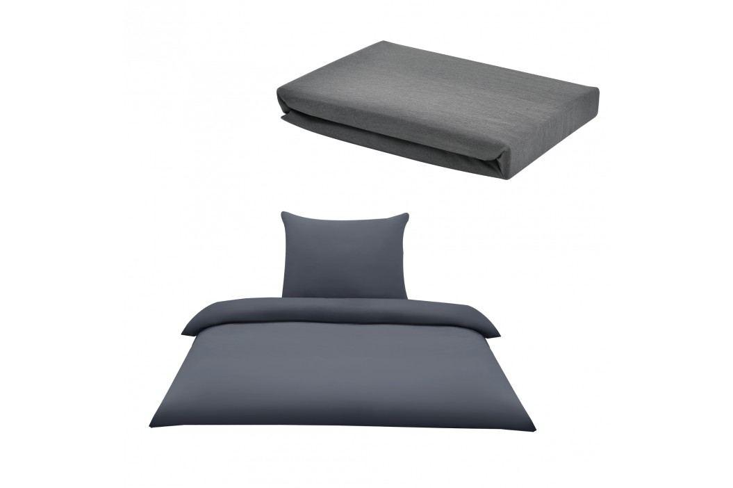Sada posteľná bielizeň 135 x 200 cm + plachta 90-100 x 200 cm - sivá
