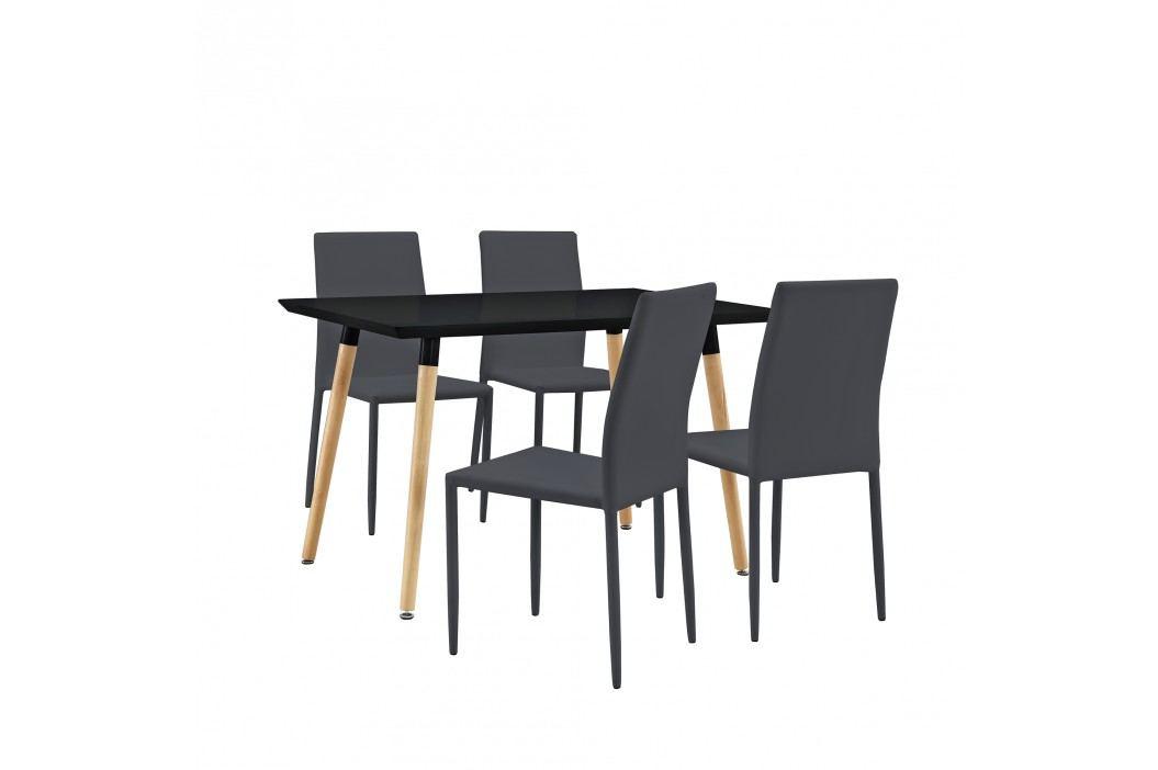 Dizajnový jedálenský stôl - 120 x 70 cm - tmavo sivý