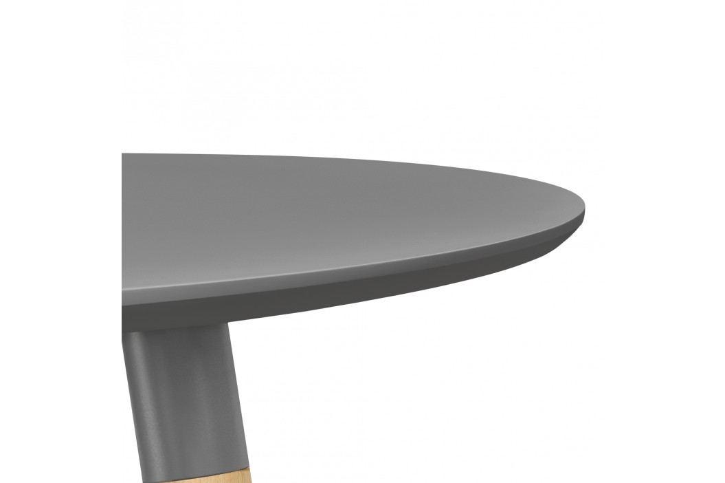 Okrúhly barový stôl - Ø 70 cm - tmavo sivý