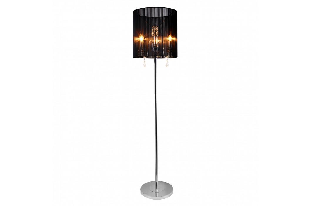 Elegantná stojaca lampa - Fabrica 3 x E 14 – 42W - chrómová / čierna