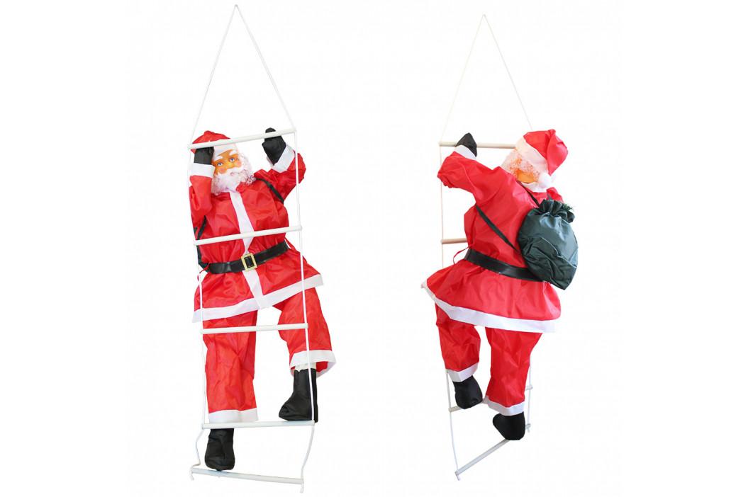 Mikuláš lezúci po rebríku - vianočná dekorácia - 150 cm