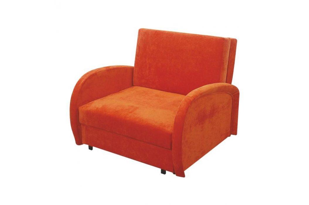 Rozkládací křeslo, oranžová, MILI 1 0000063771 Tempo Kondela
