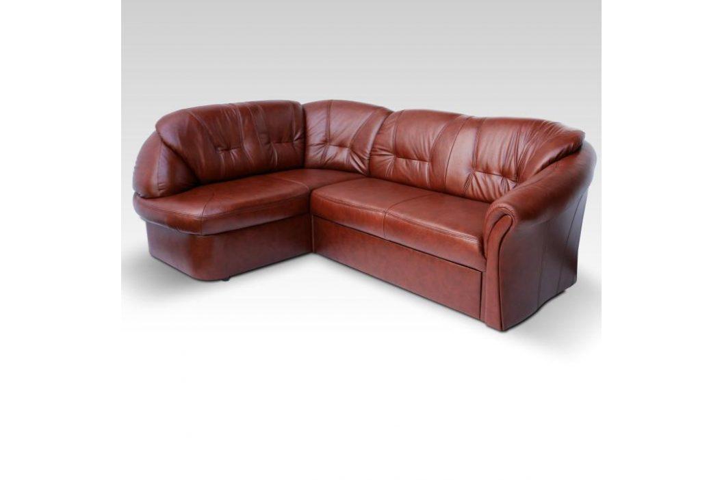 Luxusní sedací souprava, kůže / ekokůže hnědočervená, levá, LAREDO 0000070962 Tempo Kondela