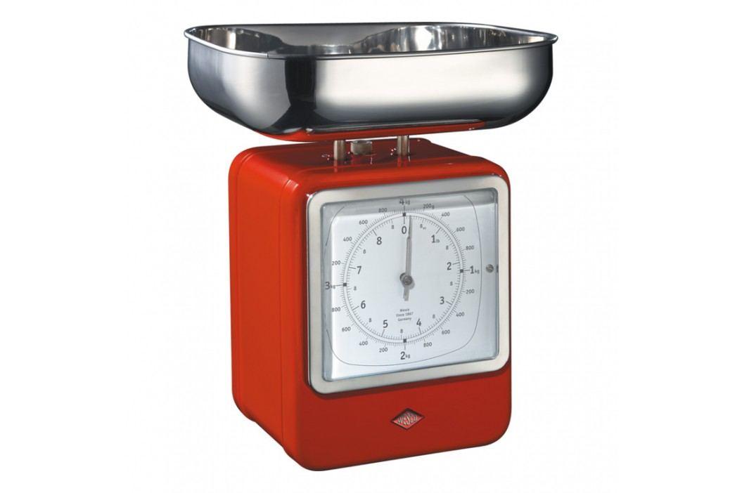 Wesco Kuchynská váha s hodinami červená