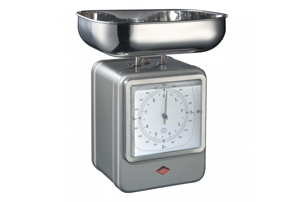 Wesco Kuchynská váha s hodinami nová strieborná
