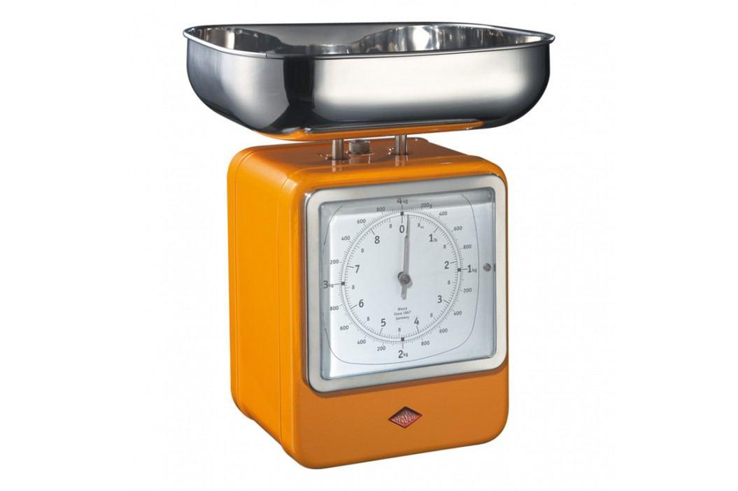 Wesco Kuchynská váha s hodinami oranžová