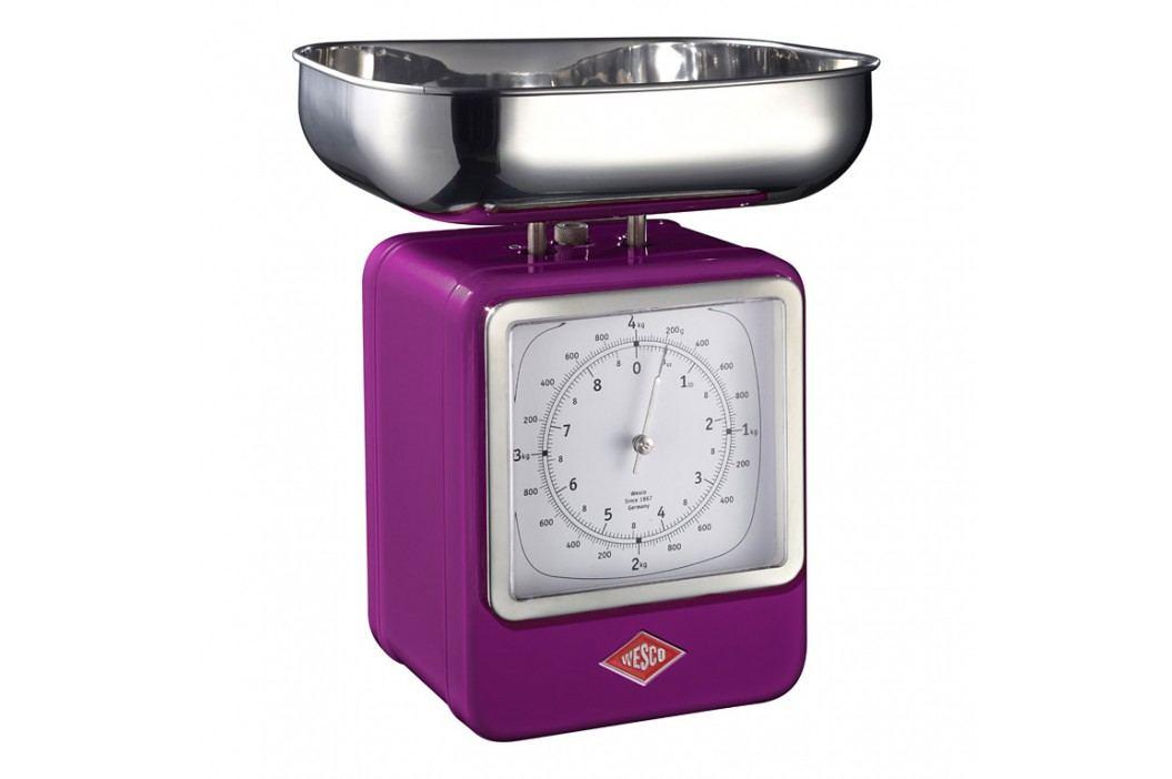 Wesco Kuchynská váha s hodinami černicová