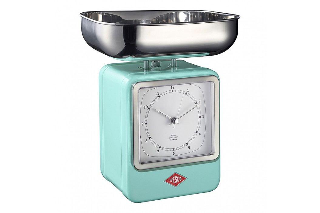 Wesco Kuchynská váha s hodinami mätová