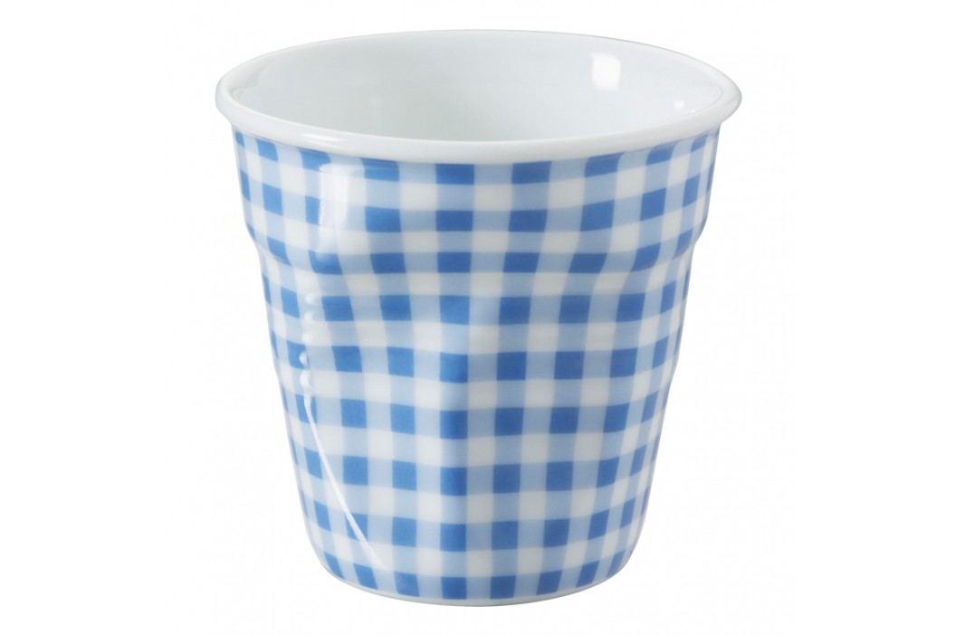 REVOL Téglik na espresso 8 cl modro károvaný Froissés