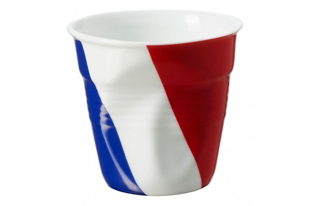 REVOL Téglik na espresso 8 cl s francúzskou vlajkou Froissés